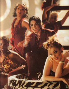 Michael Jackson in scene from Blood on the Dance Floor video