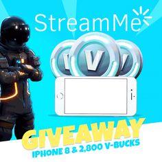 iPhone 8 & 2,800 Fortnite V-Bucks Giveaway!
