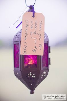 If you're having lanterns as part of your wedding reception decor, you could also turn them into favours by letting your guests take one home at the end of the night! Such a great idea!