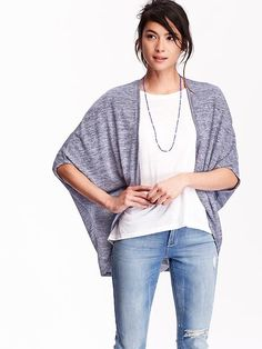 Women's Open-Front Cocoon Cardigans Product Image