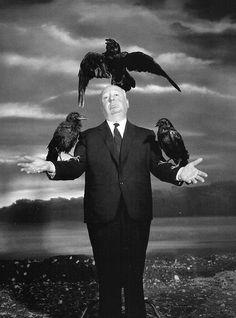 Alfred Hitchcock, 1963. S) I know he's not a movie star, but he belongs in here.