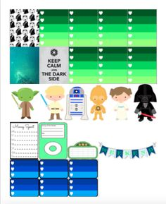 Free printable STAR WARS planner stickers! [ For you Star Wars fans, personal use only. copyright may apply]