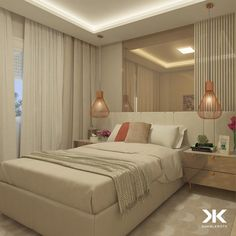 This unique bedroom furniture master is an unquestionably inspirational and outstanding idea Bedroom False Ceiling Design, Modern Bedroom Design, Home Room Design, Bed Design, Rooms Home Decor, Home Bedroom, Bedroom Furniture, Bedroom Decor, Home Suites