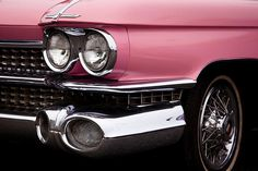 The Classic Pink Cadillac Convertible From 1959 Photograph by David Patterson