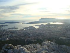 Toulon, France - The city seen from the Mont Faron.