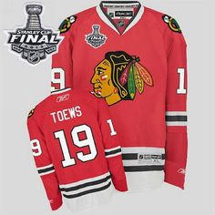 3d64c38963b2 Blackhawks  19 Jonathan Toews Embroidered Red With Stanley Cup Finals NHL Jersey  Blackhawks Jerseys