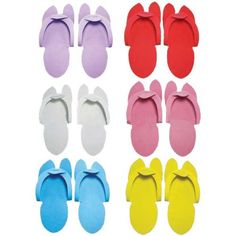 78044653e4758 Huini Disposable Pedicure Salon Pink Flip Flop Slippers Nail Foam Foot  Sandle 12 Pairs Spa HuiNi