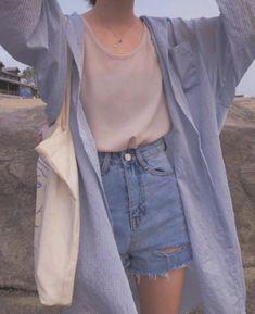 clothes fashion kfashion korean fashion style street style cute kawaii soft pastel aesthetic outfit inspiration elegant skinny fashionable spring autumn winter cozy comfy clothing dresses skirts blouse r o s i e Korean Fashion Trends, Asian Fashion, Look Fashion, Trendy Fashion, Fashion Outfits, Korea Fashion, 90s Fashion, Fashion Clothes, Korea Summer Fashion