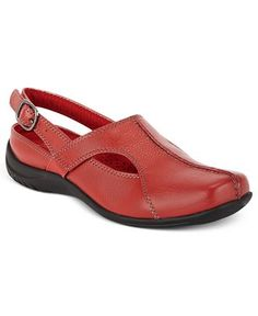 Easy Street Sportster Comfort Clogs synthetic red 1.5h sz7.5 50.00