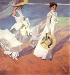 The artwork Paseo a orillas del mar - Joaquin Sorolla we deliver as art print on canvas, poster, plate or finest hand made paper. William Turner, Puzzles, Most Famous Paintings, Art Paintings, Beach Posters, Digital Museum, Kunst Poster, Spanish Painters, Glass Wall Art