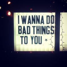 Very, very bad things...