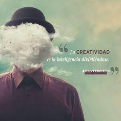 ¡Pon el cerebro a divertirse y seguro que salen ideas espectaculares! 😍🙌 Albert Einstein, Inspirational Quotes, Creative, Movie Posters, Movies, Ideas, The Brain, Creativity, Life Coach Quotes