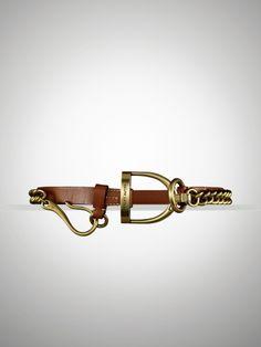Vachetta Stirrup-Chain Belt - Ralph Lauren Belts - RalphLauren.com