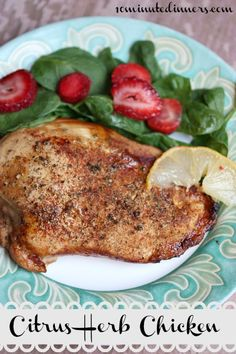 Prepare this Citrus Herb Chicken in less than ten minutes: delicious! www.10minutedinners.com