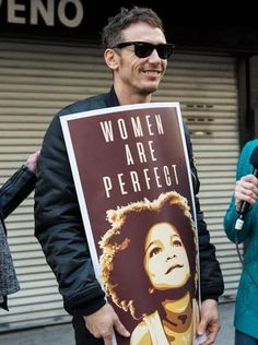 James Franco shows his support at the Women's March