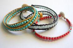 beaded wrap bracelets (free pattern)