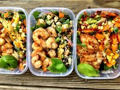 Shrimp with Feta and Grilled Veggie Salad!  Dinners for the week!