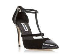 DUNE LADIES DAYNA - T-bar Two Part High Heel Court Shoe - black | Dune Shoes Online