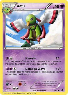 002 Xatu by Fake Pokemon Cards, Mystic Pokemon, Social Community, Family Guy, Deviantart, Griffins
