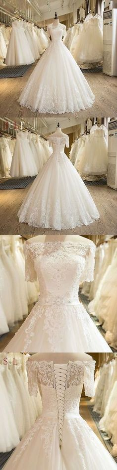White lace tulle long prom dress,Fashion Bridal Dress,Sexy Party Dress,Custom Made Evening Dress