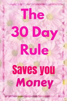 Use the 30 day rule to save money. Avoid impulse buying with this rule. Save Money On Groceries, Save Your Money, Ways To Save Money, Money Tips, Money Saving Tips, How To Make Money, Money Hacks, Financial Tips, Financial Planning