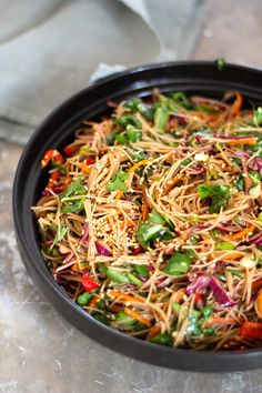 asiatisk nudelsalat Japchae, Love Food, Tapas, Nom Nom, Food Porn, Veggies, Food And Drink, Pasta, Dinner
