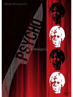 Psycho Scream Alternative Movie Poster by scardesign11  #poster #alternativemovieposter #Psycho #AlfredHitchcock #Hitchcock #Cinema #Films #NormanBates #JanetLeigh #scream #thriller #scary #movie #classicmovies #hollywood #homecinema #hometheater #homedecor #gifts  #findyourthing #redbubble Vertigo Poster, Cult Movies, Cinema Movies, Cinema Film, Sherlock Poster, Movie Gift, Gifts For Art Lovers, Buy Posters, Film Posters