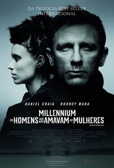 """Cartaz do filme """"Millennium - Os Homens que Não Amavam as Mulheres""""."""