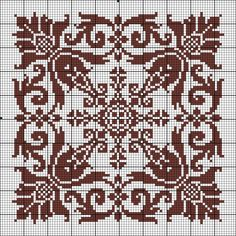 Star Crochet pattern Cross Stitch Tree, Cross Stitch Borders, Cross Stitch Designs, Cross Stitching, Cross Stitch Embroidery, Embroidery Patterns, Cross Stitch Patterns, Crochet Quilt, Tapestry Crochet