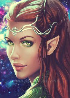 Elfa, Fantasy Women, Fantasy Girl, Character Portraits, Character Art, Tatoo Star, Elfen Fantasy, Elf Ranger, Fantasy Kunst