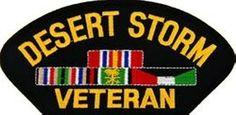 Desert Storm Veteran Ribbon Patch   Campaign Patches   Desert Storm