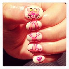 21 Cool Nail Art Ideas ‹ ALL FOR FASHION DESIGN the pink panther would be proud !