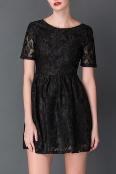 black lace mini