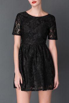 black lace mini