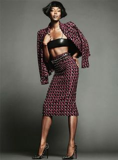 #NaomiCampbell Goes 'Grown-Up Lady Punk' for The Edit #fashion #beauty