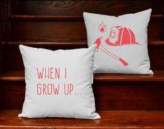 Children' s Firefighter Pillows - adorable!
