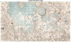 Moon map Astronomy poster Moon 105 by mapsandposters on Etsy, $28.88