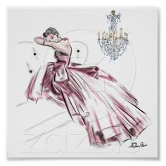 I LOVE Elaine Biss' Stationery with French Couture! This is ONE example of many. Perfect for framing! Imagine two or three rows of 5-6 drawings in black frames with a hint of a silver matte. Romance!