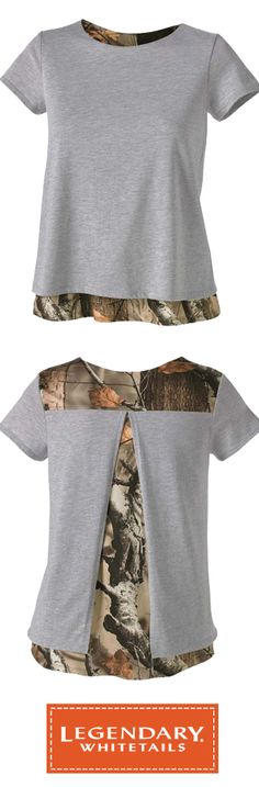 Ladies Melody Petal Back Big Game Camo Top