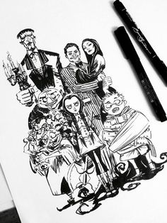 The Addams Family by Eduardo Francisco.