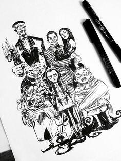 The Addams Family by Eduardo Francisco.