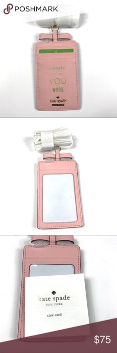 Kate Spade Lanyard Pink Sunset Whistle While Work • Kate Spade lanyard in Pink Sunset color  • New (actual item in photos)  • Feel free to ask any questions! kate spade Accessories Key & Card Holders