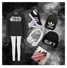 """Star wars"" by miray-yavuzcan on Polyvore featuring interior, interiors, interior design, home, home decor, interior decorating, French Connection, Tee and Cake, adidas and adidas Originals"
