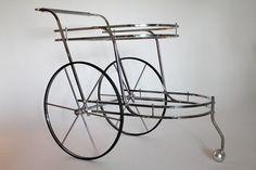 70s BAR CART / serving cart mid century vintage by VINTAGELAMPDEN