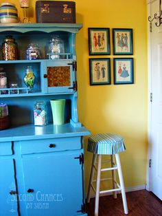 framed vintage patterns -Second Chances by Susan: My Sewing Studio!