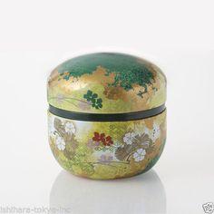 Hanazoroe-Steel-Tea-Caddy-Can-S-2-color-for-100g-tea-leaf