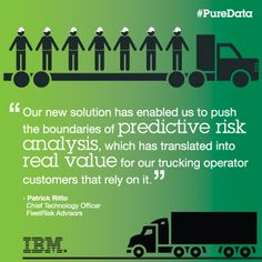 Read more about how FleetRisk Advisors has significantly reduced accidents and increased driver retention using IBM PureData System for Analytics on Expert Integrated Systems Blog.