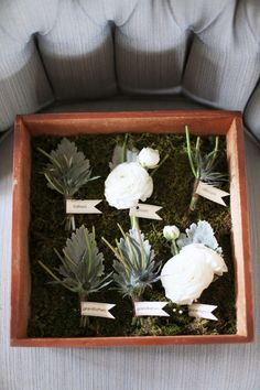 mix of boutonnieres // photo by Feather & Twine