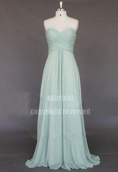 sage green bridesmaid dress wedding bridesmaid dress by okbridal