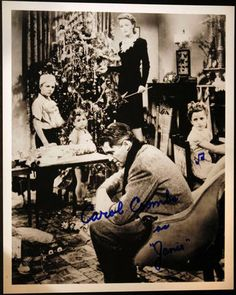 """Carol Coombs AutographedPhoto  Actress Played Janie in """"It's a WonderfulLife"""""""